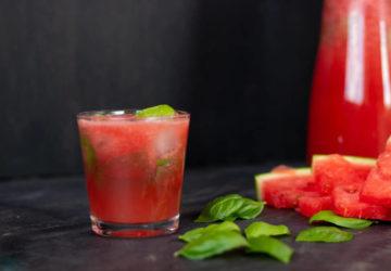 erfrischendes Sommergetränk Melone Basilikum alkoholfrei Sommerdrink