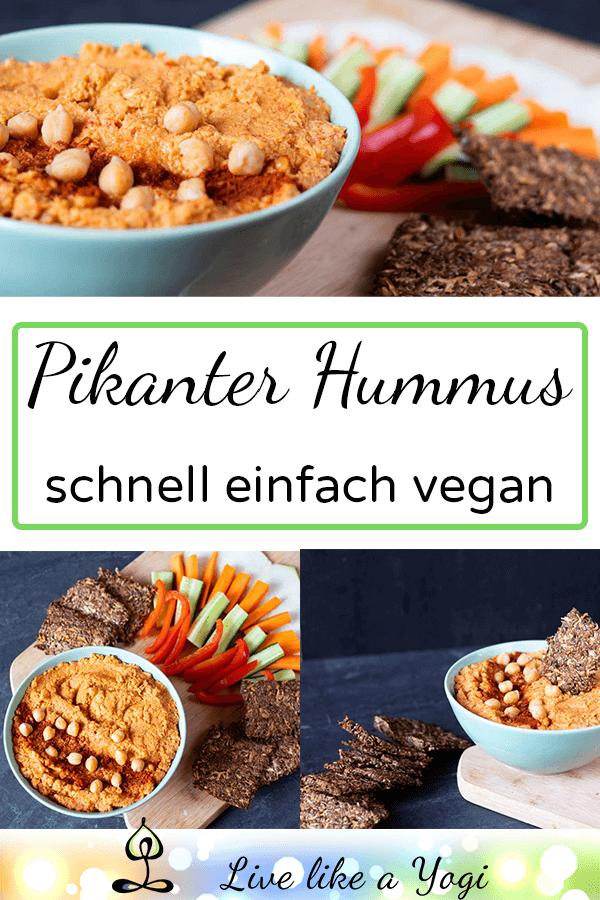 veganer pikanter Hummus