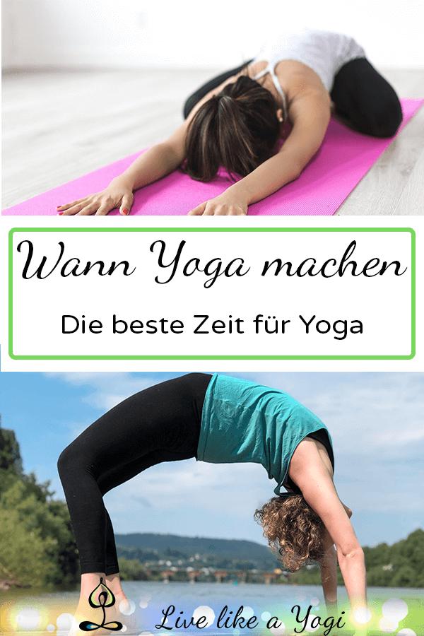 Wann Yoga machen - beste Zeit für Yoga
