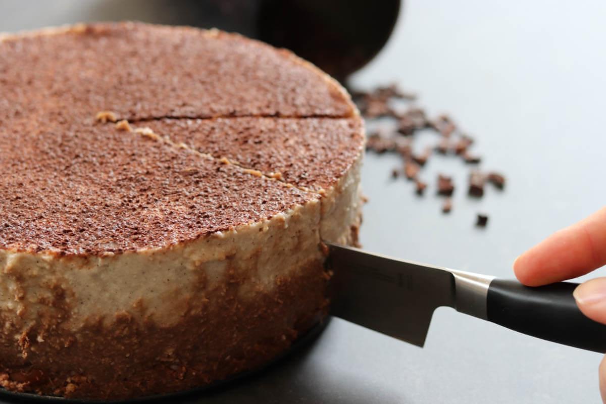 Veganes Dessert Tiramisu mit Schoko- und Vanillecreme