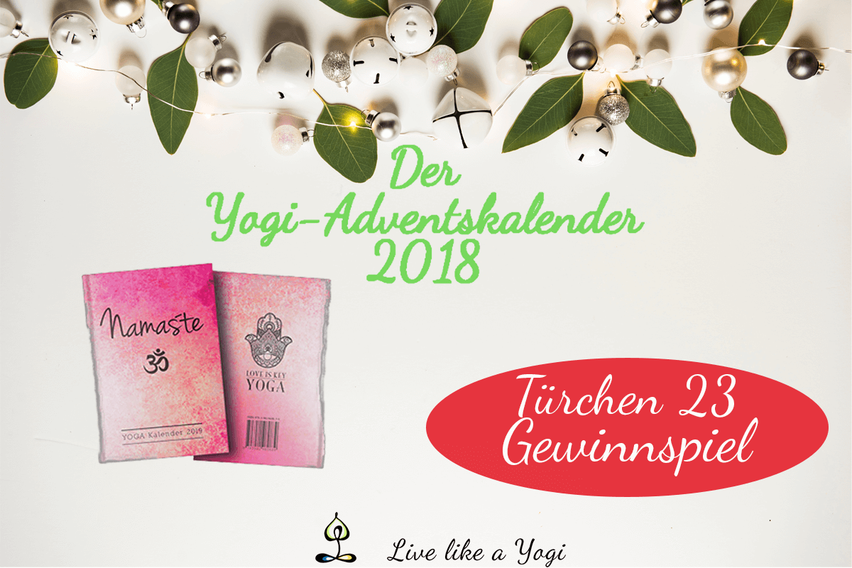 Live Like A Yogi-Adventskalender Türchen #23 Gewinnspiel LOVE IS KEY YOGA