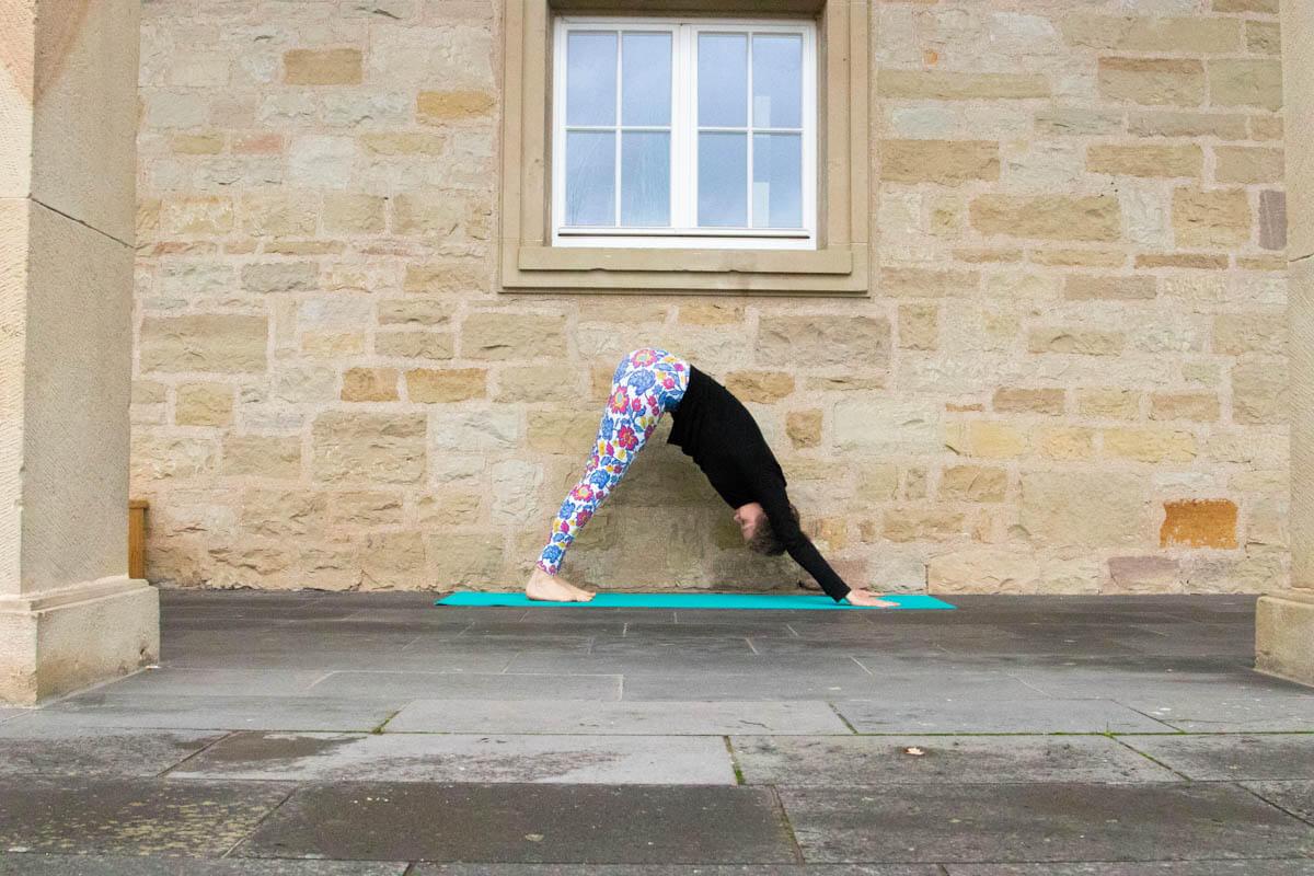 Live Like A Yogi Adventskalender Türchen 10 Yoga Übungen gegen Stress herabschauender Hund